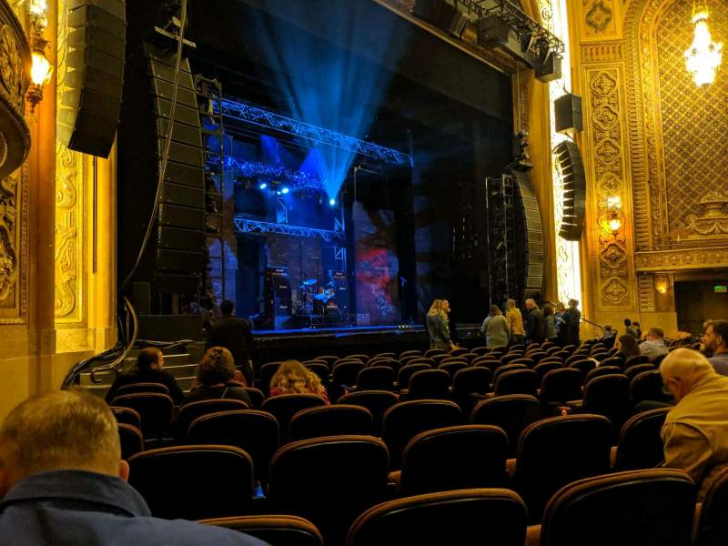 Seating view for Paramount Theatre (Seattle) Section Main Floor 4 Row M Seat 8