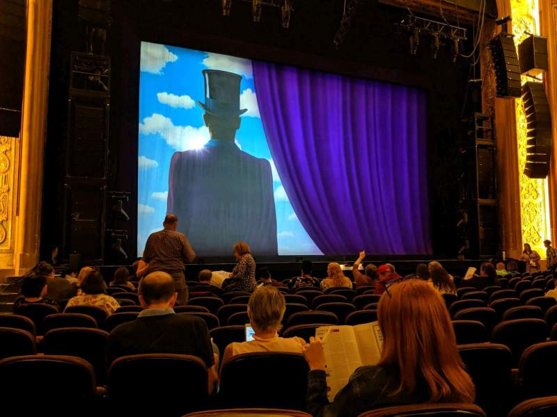 Seating view for Paramount Theatre (Seattle) Section Main Floor 3 Row M Seat 13