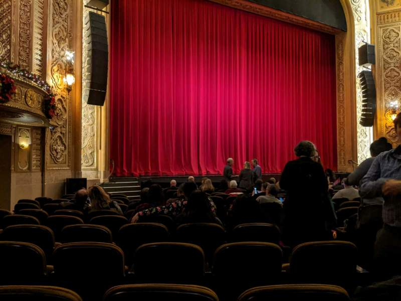 Seating view for Paramount Theatre (Seattle) Section Main Floor 4 Row R Seat 5