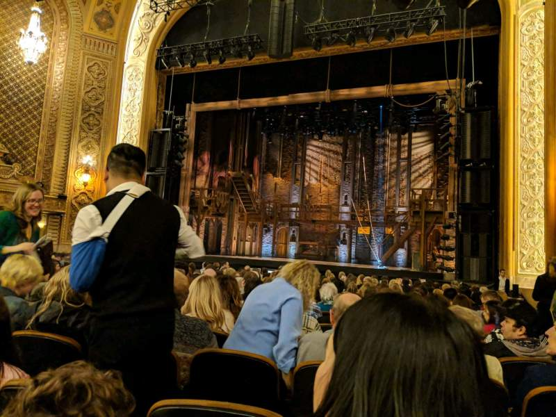 Seating view for Paramount Theatre (Seattle) Section Main Floor 2 Row T Seat 13