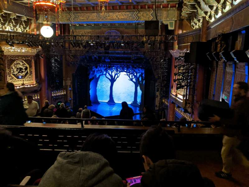 Seating view for 5th Avenue Theatre Section Upper Right Row M Seat 16
