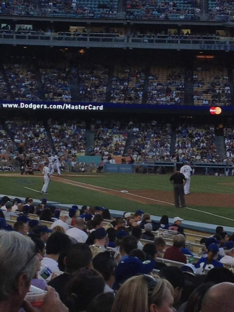 Seating view for Dodger Stadium Section 44FD Row H Seat 13