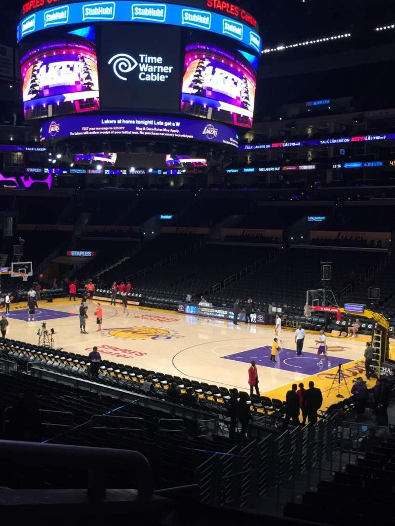 Seating view for Staples Center Section PR11 Row 2 Seat 6