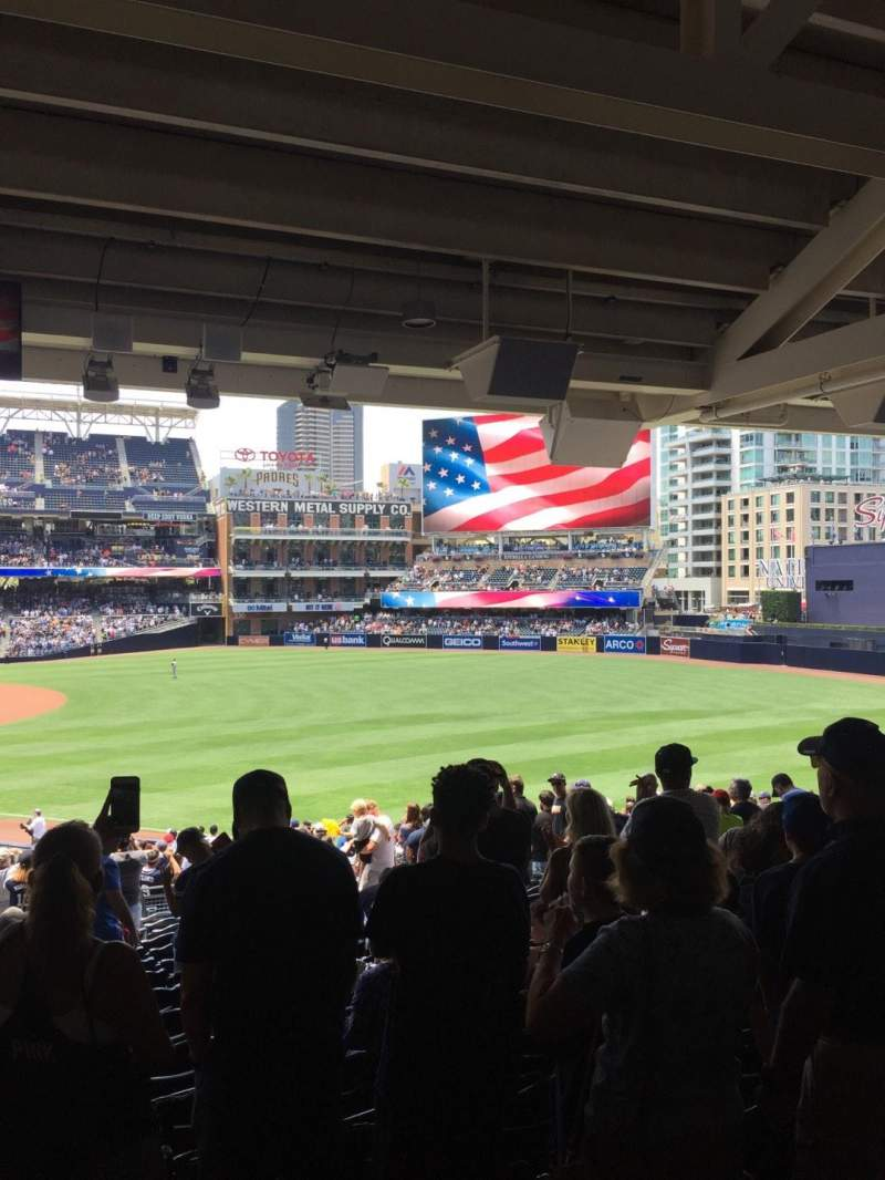 Seating view for PETCO Park Section 121 Row 43 Seat 1