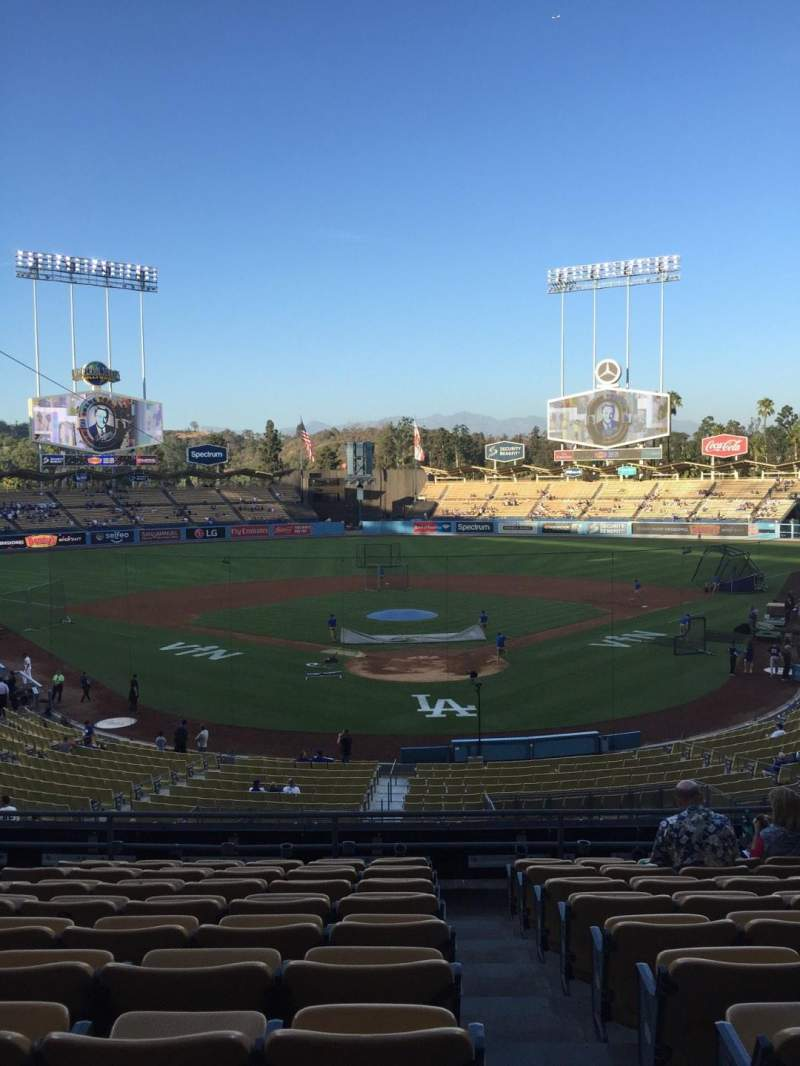 Seating view for Dodger Stadium Section 102LG Row K Seat 1