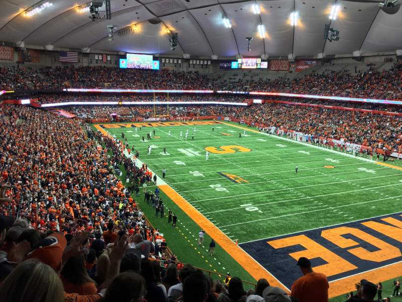 Seating view for Carrier Dome Section 331 Row K Seat 11