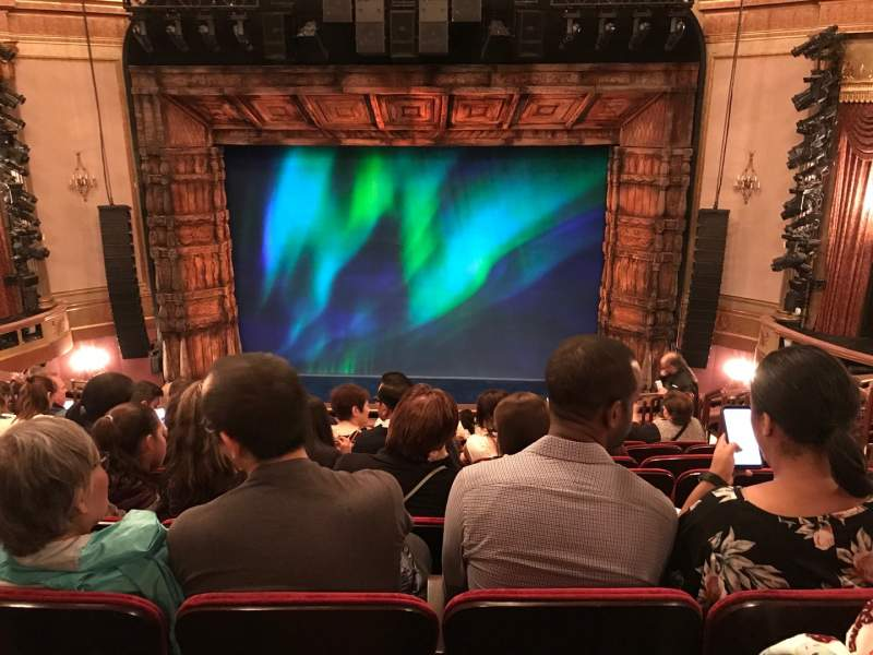 Seating view for St. James Theatre Section Mezzanine C Row M Seat 104