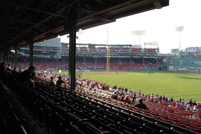 Seating view for Fenway Park Section Grandstand 5 Row 07 Seat 9