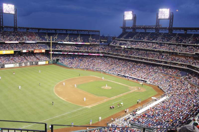 Seating view for Citizens Bank Park Section 431 Row 3 Seat 11