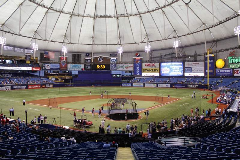 Seating view for Tropicana Field Section 103 Row gg Seat 3