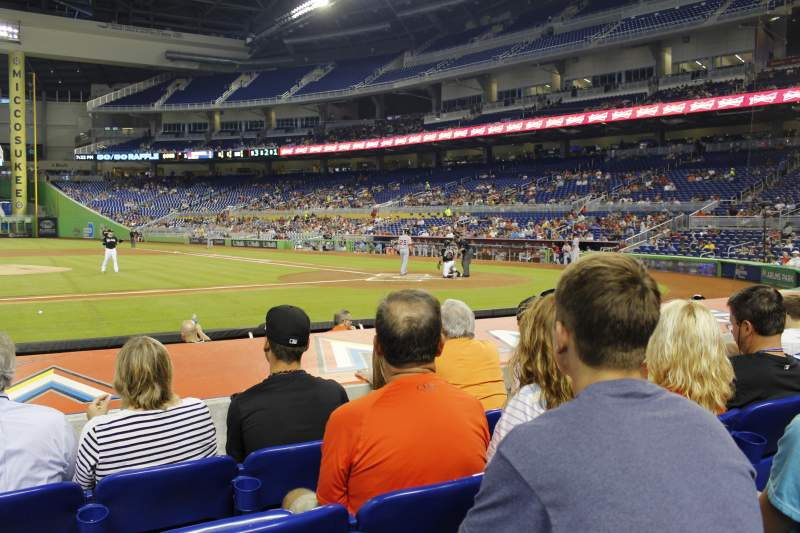 Seating view for Marlins Park Section 20 Row d Seat 10