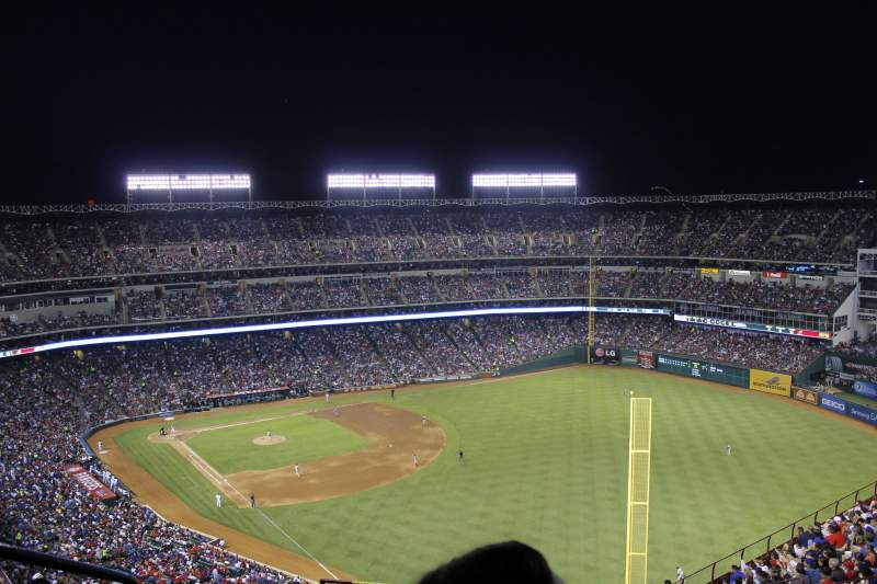 Seating view for Globe Life Park in Arlington Section 343 Row 21 Seat 2