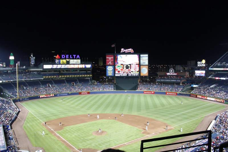 Seating view for Turner Field Section 403L Row 3 Seat 101