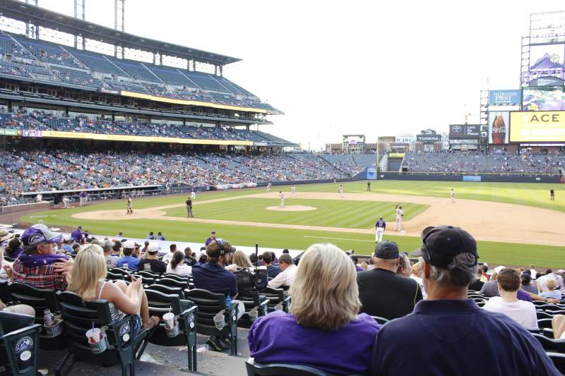 Seating view for Coors Field Section 121 Row 24 Seat 12