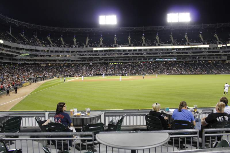 Seating view for Guaranteed Rate Field Section 106 Row 9 Seat 17