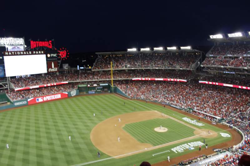 Seating view for Nationals Park Section 405 Row e Seat 6