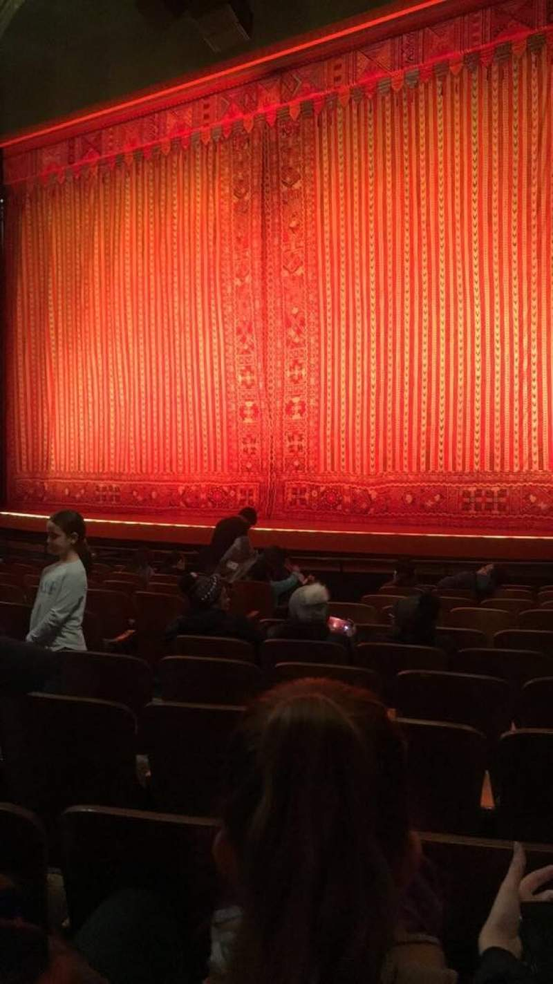 Seating view for New Amsterdam Theatre Section Orchestra R Row L Seat 10