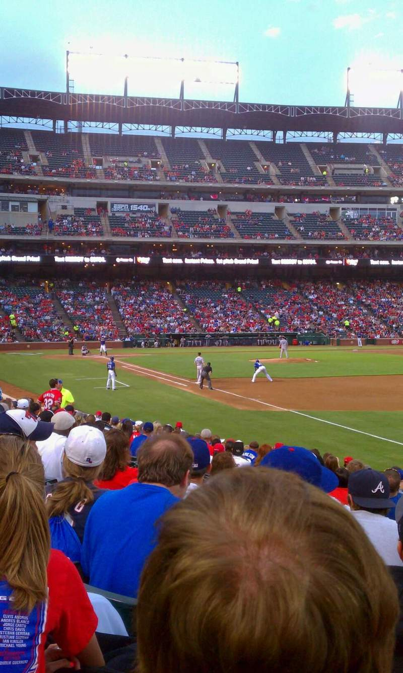 Seating view for Globe Life Park in Arlington Section 38 Row 14 Seat 14