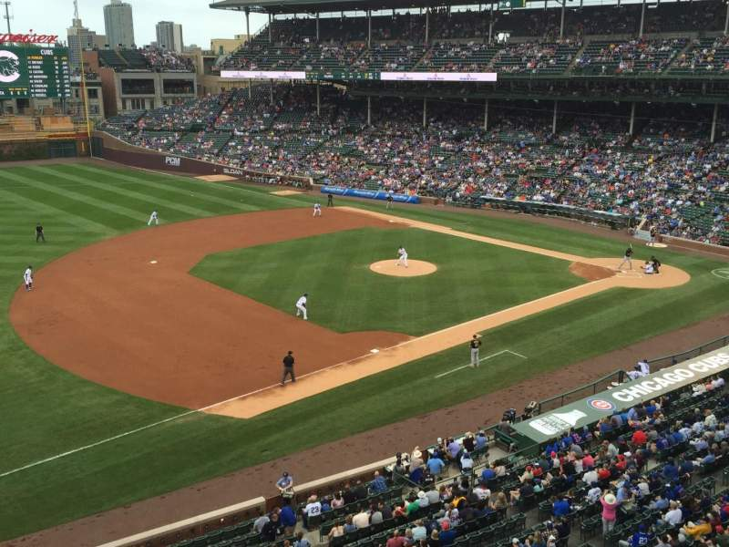Seating view for Wrigley Field Section 409 Row 1 Seat 101
