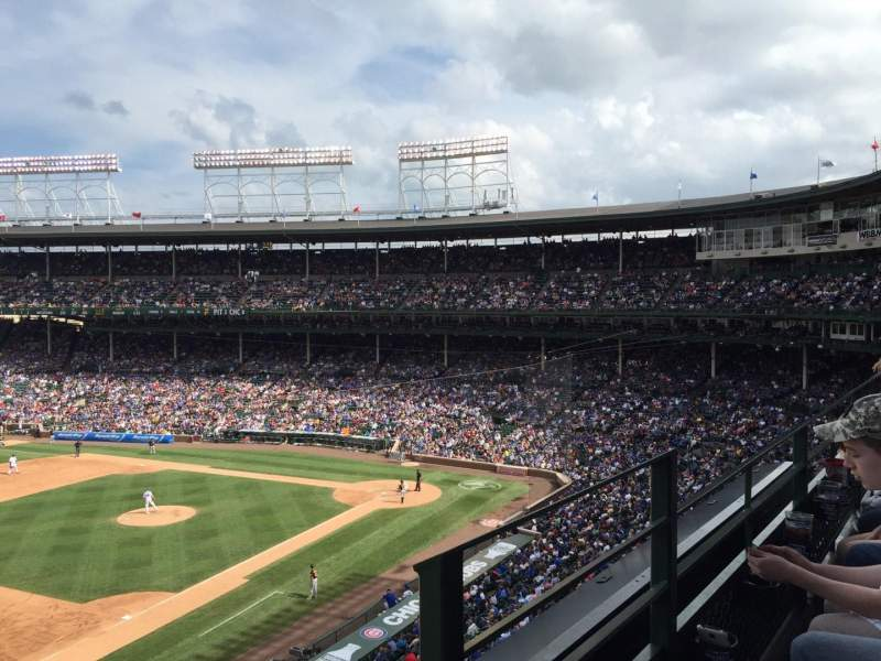 Seating view for Wrigley Field Section 307L Row 1 Seat 23