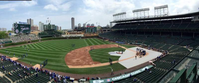 Seating view for Wrigley Field Section 410 Row 1