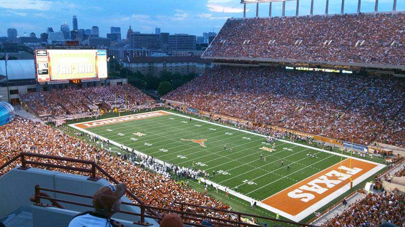 Seating view for Texas Memorial Stadium Section 122 Row 12 Seat 10