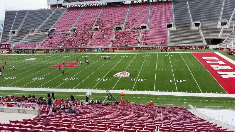 Seating view for Rice-Eccles Stadium Section E34 Row 33 Seat 21