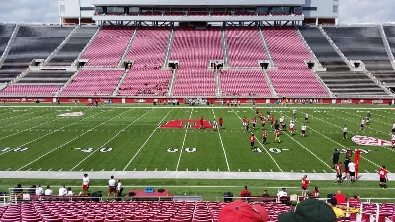 Seating view for Rice-Eccles Stadium Section E36 Row 19 Seat 15