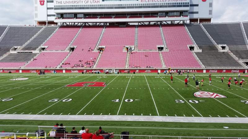 Seating view for Rice-Eccles Stadium Section E35 Row 13 Seat 8