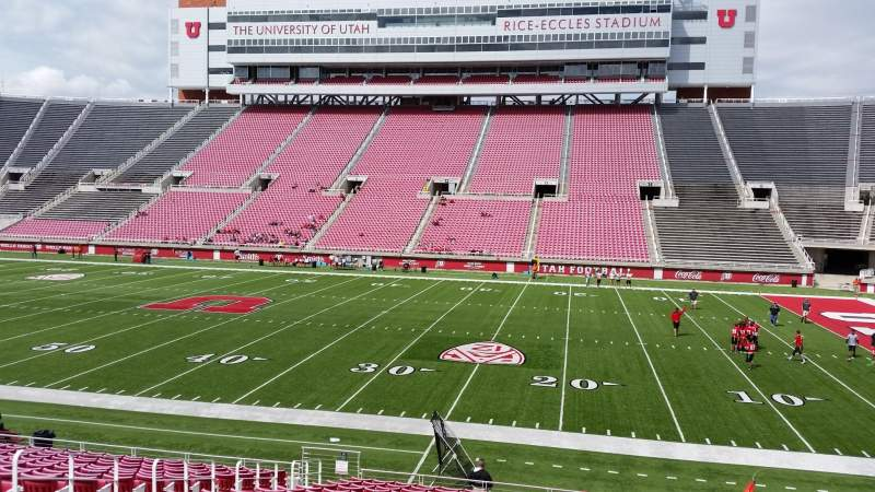 Seating view for Rice-Eccles Stadium Section E34 Row 20 Seat 10