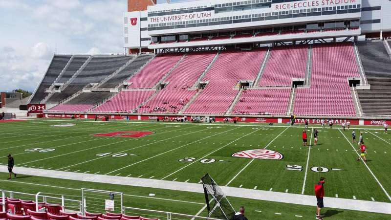 Seating view for Rice-Eccles Stadium Section E34 Row 10 Seat 11