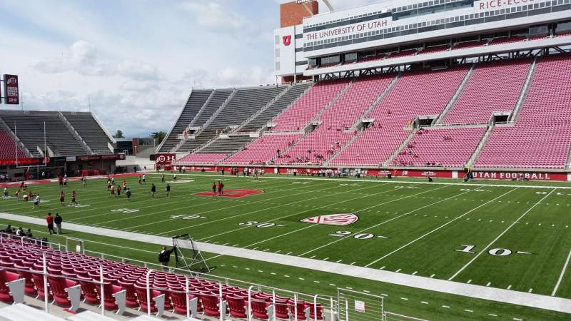 Seating view for Rice-Eccles Stadium Section E33 Row 15 Seat 13