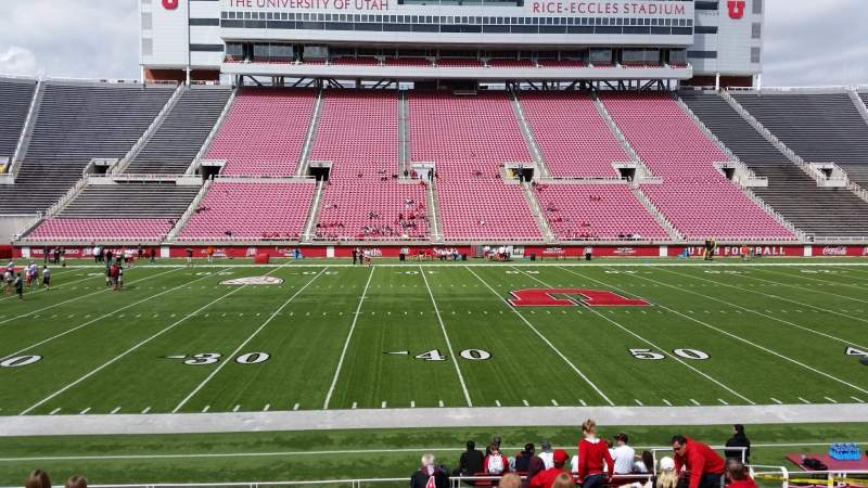 Seating view for Rice-Eccles Stadium Section E37 Row 13 Seat 8