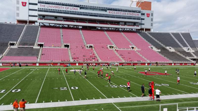Seating view for Rice-Eccles Stadium Section E38 Row 12 Seat 10