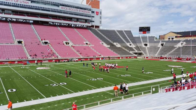 Seating view for Rice-Eccles Stadium Section E39 Row 15 Seat 2