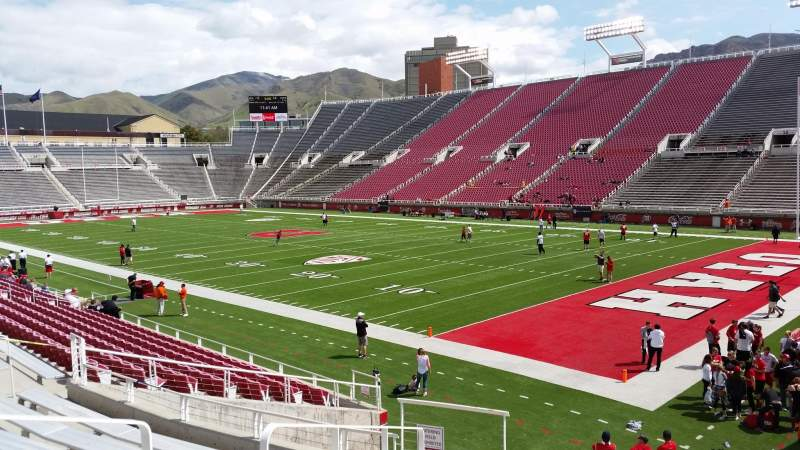 Seating view for Rice-Eccles Stadium Section W6 Row 15 Seat 4