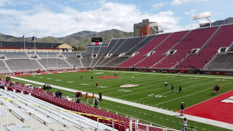 Seating view for Rice-Eccles Stadium Section W8 Row 17 Seat 22