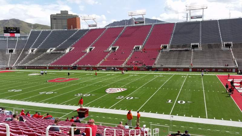 Seating view for Rice-Eccles Stadium Section W9 Row 19 Seat 2