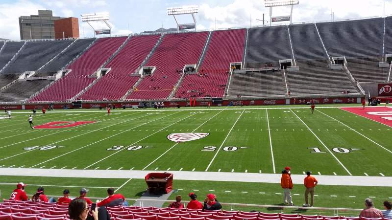 Seating view for Rice-Eccles Stadium Section W10 Row 12 Seat 17