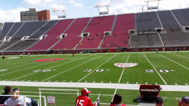Seating view for Rice-Eccles Stadium Section W10 Row 6 Seat 4