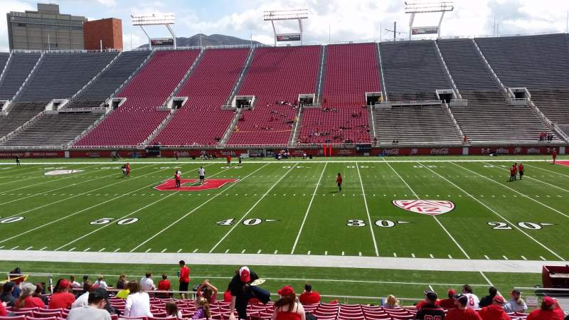 Seating view for Rice-Eccles Stadium Section W11 Row 16 Seat 18