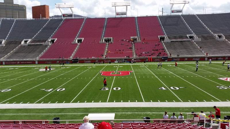 Seating view for Rice-Eccles Stadium Section W12 Row 14 Seat 24