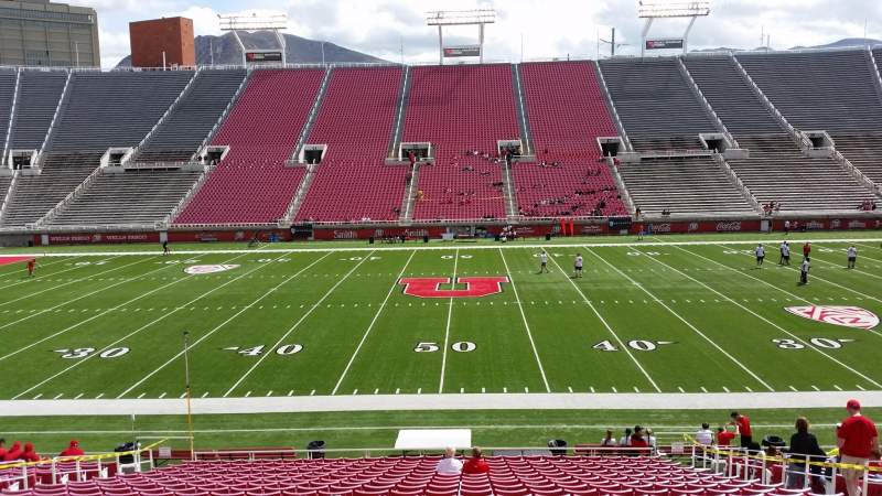 Seating view for Rice-Eccles Stadium Section W12 Row 22 Seat 21