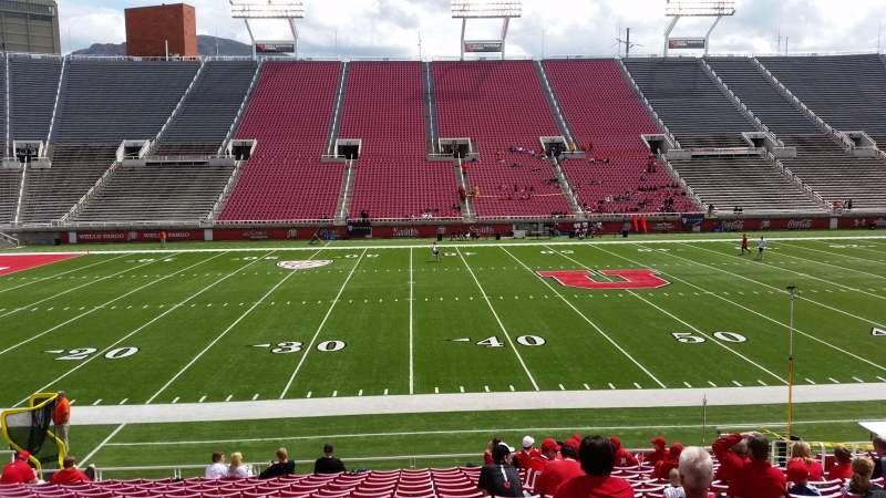 Seating view for Rice-Eccles Stadium Section W13 Row 17 Seat 12