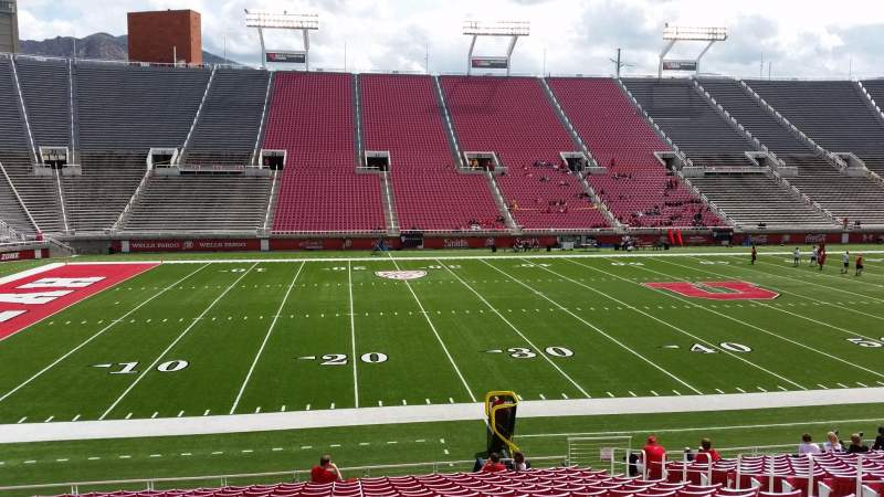Seating view for Rice-Eccles Stadium Section W14 Row 19 Seat 10
