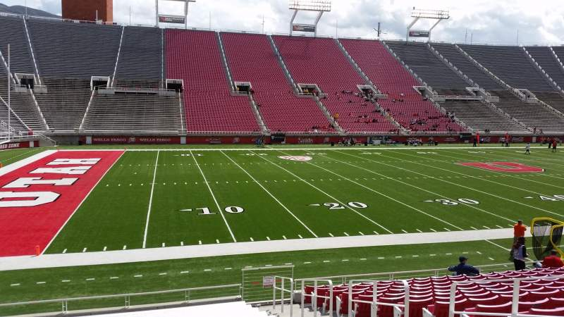 Seating view for Rice-Eccles Stadium Section W15 Row 15 Seat 5