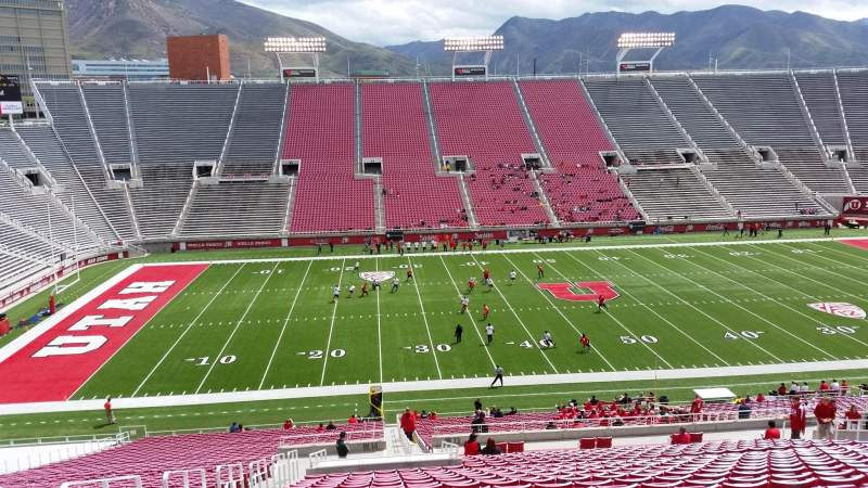 Seating view for Rice-Eccles Stadium Section W13 Row 48 Seat 30