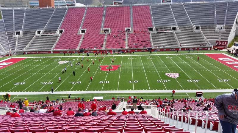 Seating view for Rice-Eccles Stadium Section W12 Row 48 Seat 34