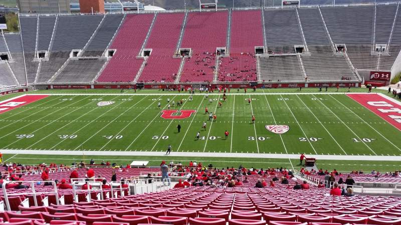 Seating view for Rice-Eccles Stadium Section W11 Row 48 Seat 15