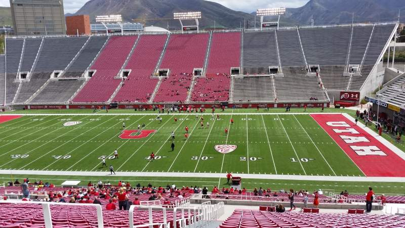 Seating view for Rice-Eccles Stadium Section W10 Row 49 Seat 9